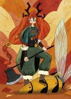 Viking warrior beetle - crayon et numérique