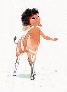 Centaur - aquarelle et encre