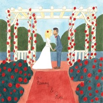 Faire-part de mariage - aquarelle et encre