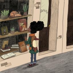 Alma finally finds a new book ! - crayon et numérique