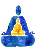 Logo réalisé pour Le Yoga des Ptits Yogis - encre et retouches numériques