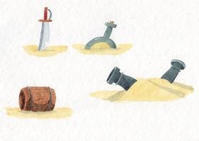 Détails pour le clip - aquarelle et encre